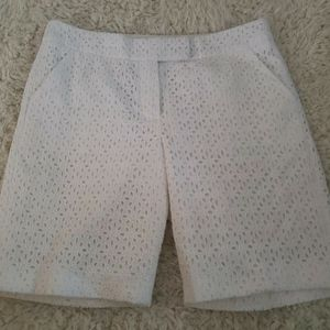 Saint Tropez West White Eyelet Shorts